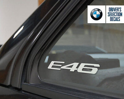 BMW E46 LOGO finestrino Adesivo Decalcomania Euro stile