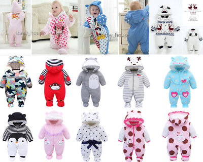 newborn baby winter warm padded clothes baby girls boys winter thick outfits - Thick Girl Outfits