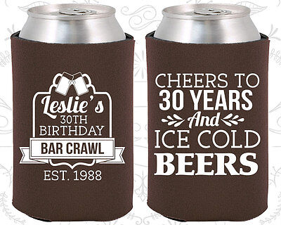 30 Birthday Party Ideas (Personalized 30th Birthday Party Ideas Coozies (20218) Cheers To 30)
