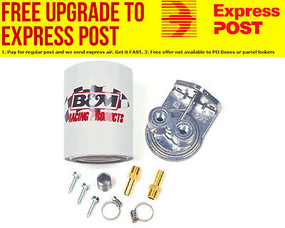 B&M Remote Transmission Oil Filter Kit With Filter, Adapter & Barb Fittings