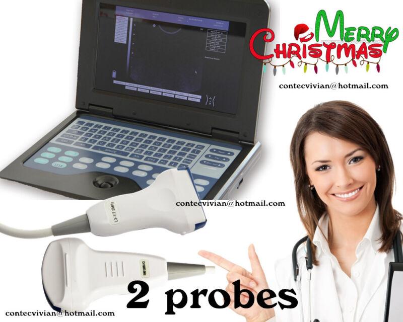 Portable Digital Ultrasound Scanner System Laptop machine+Convex+Linear 2 probes