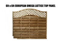 european omega lattice top panels 6ftx3ft-6ftx6ft
