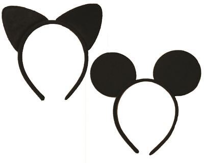 Sexy Black Cat or Mouse Ears on 1.5cm Alice Band Birthday Hen Halloween Party