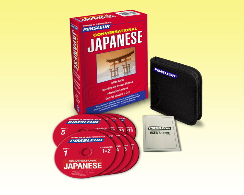 New 8 CD Pimsleur Learn to Speak  Japanese Language (16 Lessons)