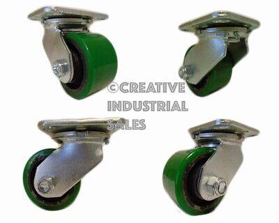 3-14 X 2 Swivel Caster Low Profile Polyurethane On Steel Hub 4