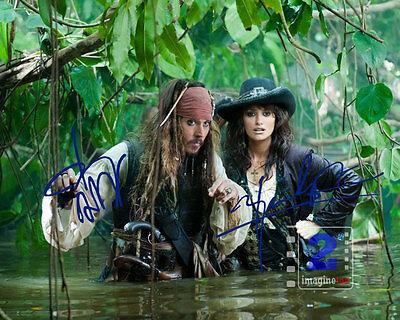 """Johnny Depp - Penélope Cruz 10""""x 8"""" Signed Color PHOTO REPRINT"""