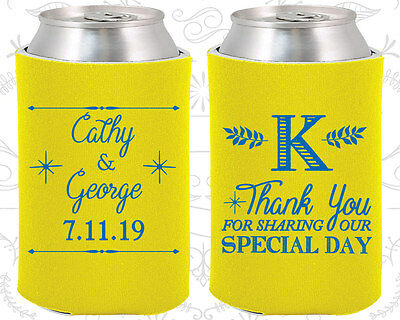 Wedding Favor Coozies Cheap Beer Can Coozie Idea (476) Monogrammed (Wedding Coozies)