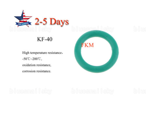 US KF40 NW40 Oil Resistant FKM Fluorine Rubber Sealing O-Ring Ovens Vacuum 10pcs