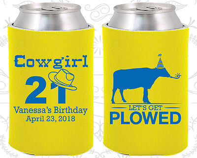 Personalized 21st Birthday Party Ideas Coozies (20158) Cowgirl Birthday, Cow](Personalized Wedding Favor Ideas)