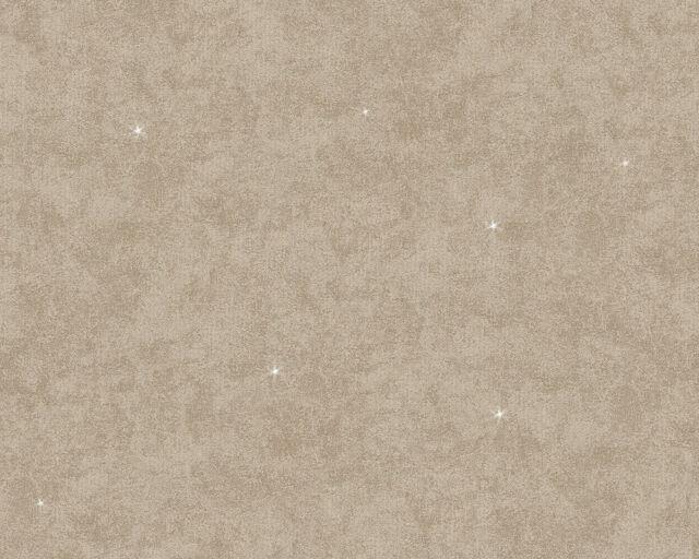 Vlies Tapete AS Memory 2 1247-53 124753 schattierte Struktur Glitzer Uni Braun