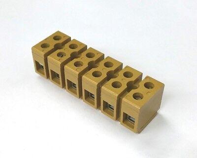 Weidmuller Mk 66 0620120000 6 Position Multipin Terminal Strip 40a 300v