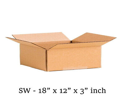 10 MOVING BOX Single Wall Cardboard 18x12x3