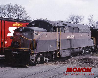 MONON EMD BL2 Train Sturdy Metal Sign