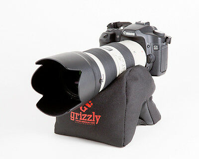 Grizzly Camera Support Bean Bag for Camera, Video, Photography, MEDIUM BLACK