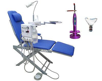 Portable Dental Mobile Chair Turbine Unit Waste Basin 4h Led Curing Light