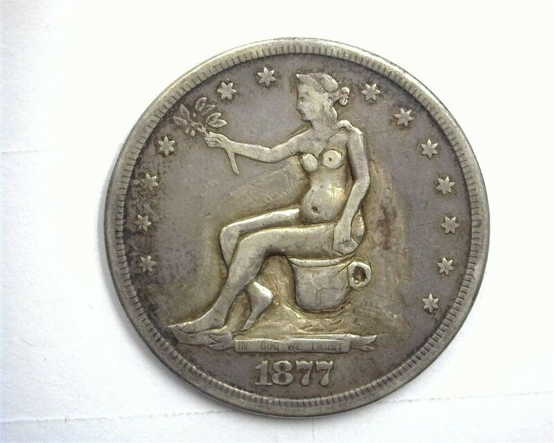 """1877-S SEATED SILVER TRADE """"POTTY"""" DOLLAR EXTRA FINE VERY NICE PIECE!"""
