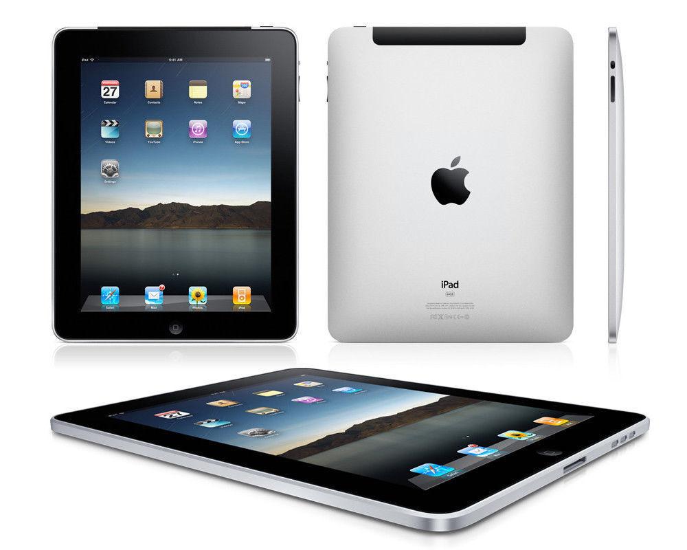 Apple iPad 1st Generation WiFi +3G Tablet Black 16GB 32GB 64GB - Used - A1337