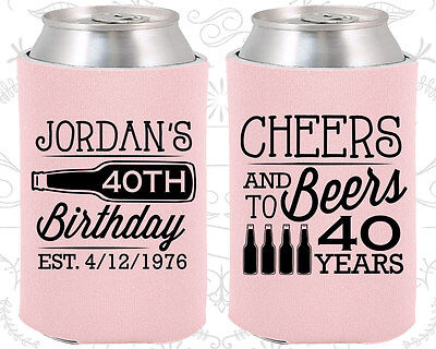 Personalized 40th Birthday Favors (Personalized 40th Birthday Party Favors Koozies (20002) Cheers To 40)