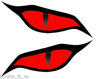 CUSTOM MONSTER EVIL RED EYES #2 VINYL DECAL STICKER SET