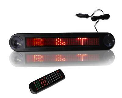12 X 2 Automobile Programmable Scrolling Red Led Sign For Window Suction Cups