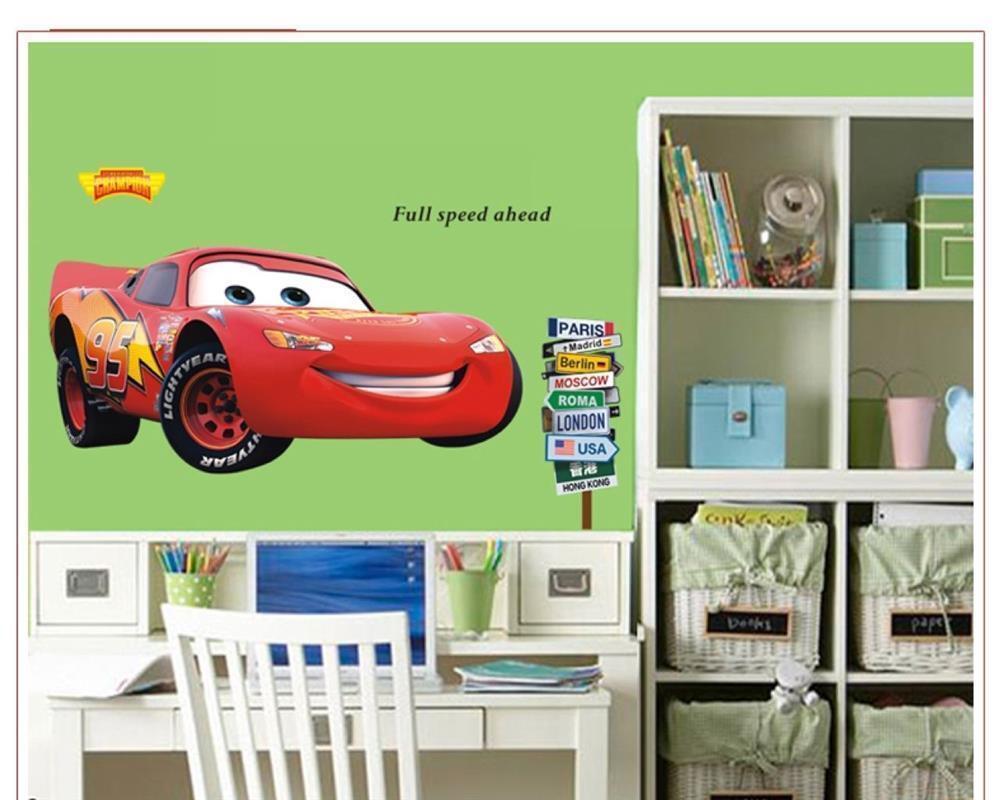 Wandtattoo Disney Cars Lightning McQueen 50cm x 110cm XXL