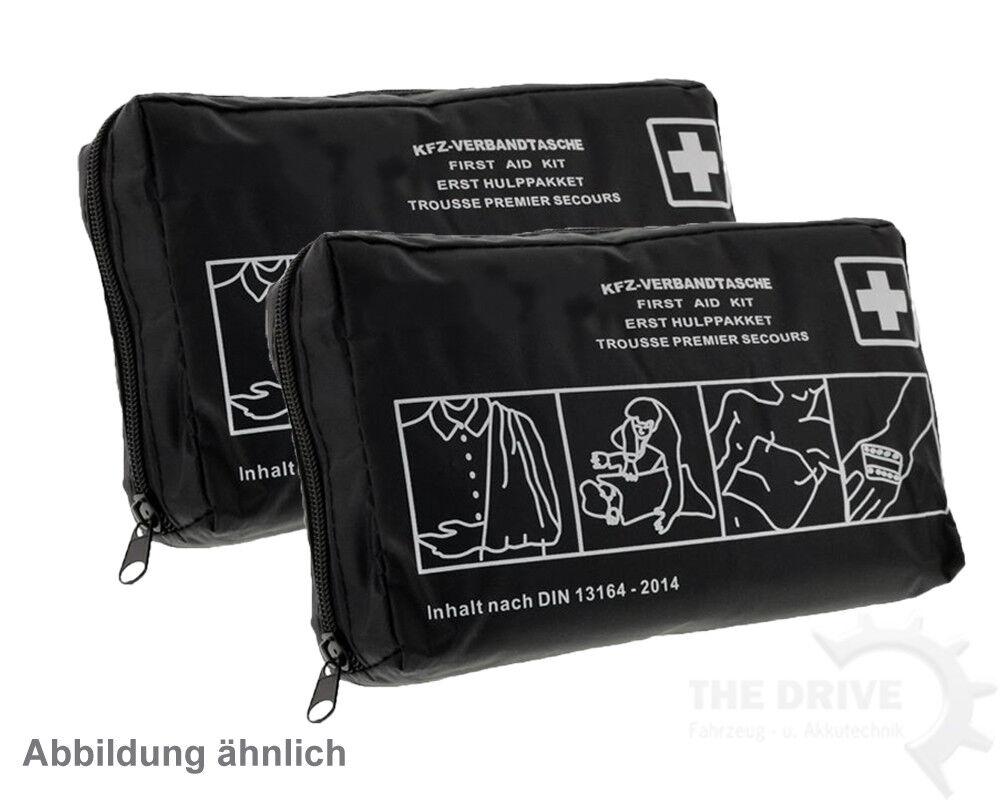 2x Auto Verbandtasche DIN13164 Verbandkasten Schwarz Erste-Hilfe Verbandskasten