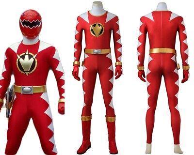 hunder Red Dino Ranger Cosplay Costume Handmade (Red Ranger Cosplay Kostüm)