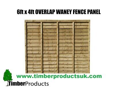 *PACK OF 5* 6ft x 4ft Waney lap fence panels 6x4 lap *SPECIAL OFFER*