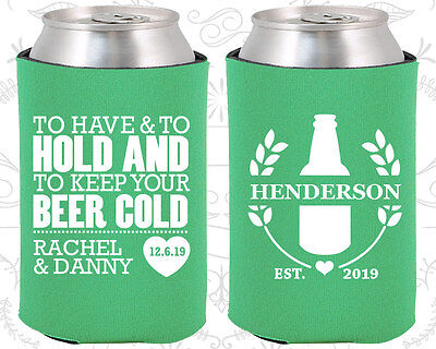 Wedding Favor Coozies Cheap Beer Can Coozie Idea (436) Floral Wedding Favors