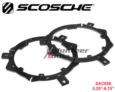 "Scosche SAC656 Aftermarket Multi-Fit Front / Rear Speaker Adapters 5.25"" - 6.75"""