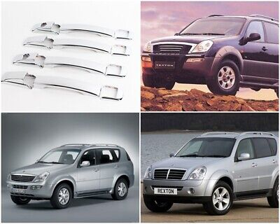 For SSANGYONG REXTON FACELIFT 2006-2012 Chrome Bumper Sill Protector Stainless Steel