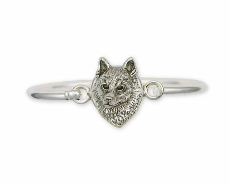 Schipperke Jewelry Sterling Silver Schipperke Bracelet Handmade Dog Jewelry SK-H