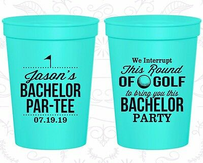Bachelor Party Cups Cup Favor (40052) Bachelor Partee, Golf