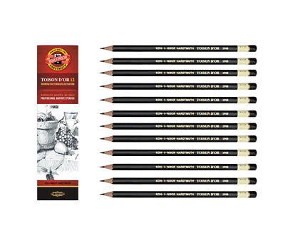12 Bleistifte  2B 4B 6B 8B - KOH-I-NOOR Toison 1900 Graphitstifte - NEU