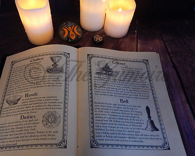 Book of Shadows Leather Book 280 Pages, Wicca, Witchcraft, Book of Shadows Pages
