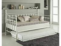 Stunning white single bed with pull out bed