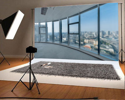7x5ft Office Window Backdrop Props City View Photography Background Studio - City Scene Backdrop