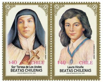 Chile 1989 #1339-1340 Beatas Chilenas MNH comprar usado  Enviando para Brazil