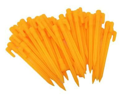 """40 pcs 5.7"""" Yellow Plastic Garden Stakes Tent Pegs Canopy Accessories"""