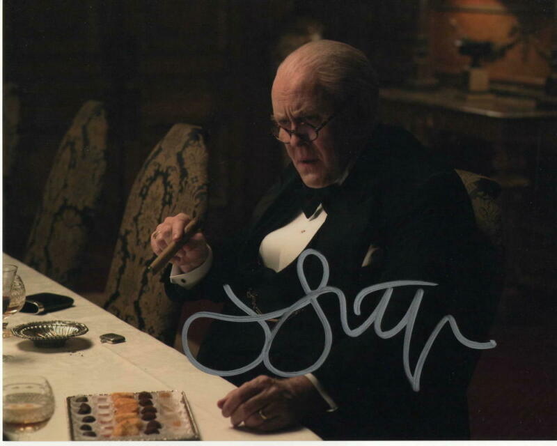 JOHN LITHGOW SIGNED AUTOGRAPH 8X10 PHOTO - THE CROWN, WINSTON CHURCHILL, DEXTER
