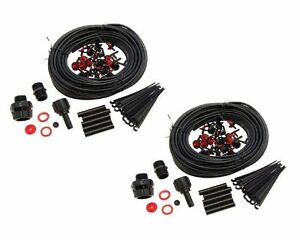 46M MICRO IRRIGATION WATERING KIT AUTOMATIC GARDEN PLANT GREENHOUSE DRIP SYSTEM
