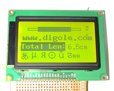 Serialparallel 128x64 Dots Graphic Lcd Display For Arduinoavrpic Blkylogrn
