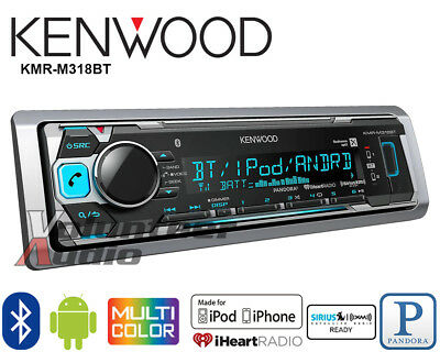 Kenwood Car Stereo Bluetooth Media Player Pandora Android iPhone Iheart (No CD)