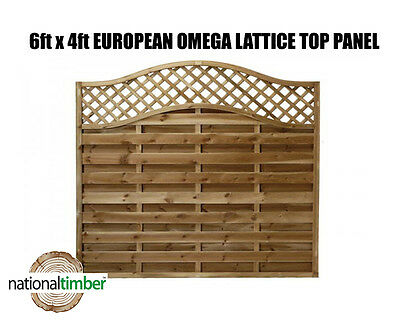 (Pack of 10) 6ft x 4ft (1.8m x 1.2m) Omega Lattice Top European Panels 6 x 4