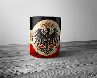 Weltkrieg 1914/18 Kaffeetasse Gott mit uns Coffee Mug 11oz God With Us
