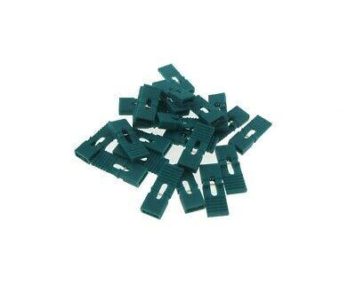 2p 2-pin 2.54mm Pitch Jumper W Handle For Straight Header - Green - Pack Of 100