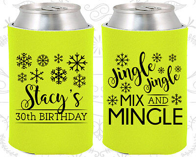 30 Birthday Party Ideas (Personalized 30th Birthday Party Ideas Coozies (20188) Christmas Birthday,)