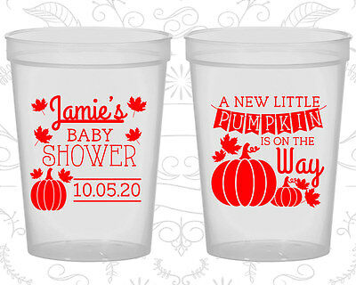Baby Shower Cups Cup Decorations (90042) Little Pumpkin, Halloween (Halloween Baby Shower Decorations)