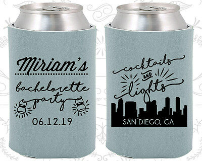 Bachelorette Party Koozies Favors Ideas (60067) Cocktails And Lights, San Diego ()