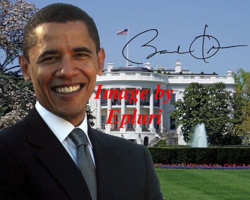 Barack Obama Signed Preprint Autograph 8x10 photo
